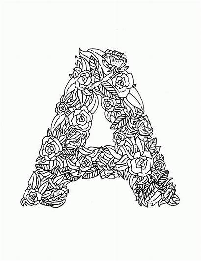Coloring Letter Adult Adults Letters Printable Mandala