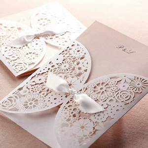 affordable romantic laser cut blush pink lace wedding With laser cut wedding invitations for sale