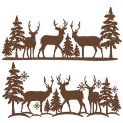 winter reindeer scene svg scrapbook cut file cute clipart