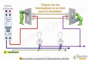 Un Va Et Vient : sch ma va et vient schema lectrique interactif d un va ~ Dailycaller-alerts.com Idées de Décoration