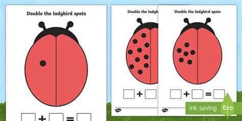 double  ladybird spots sheets minibeasts ladybirds