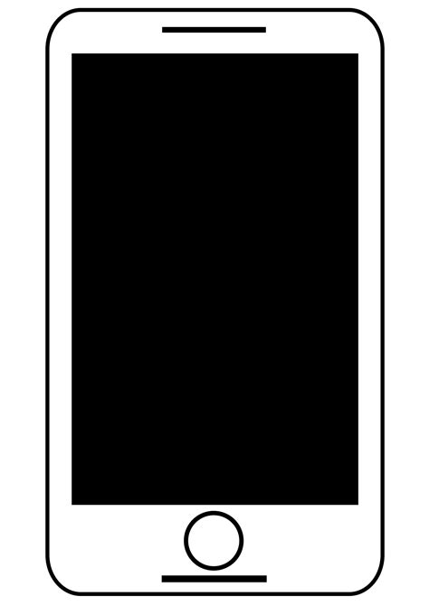 smartphone black and white smartphone tablet black and white free clipart icon