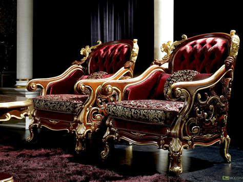 Luxury Furniture : Zuritalia Ceasar Royal Luxury Italian Style Living Room Set