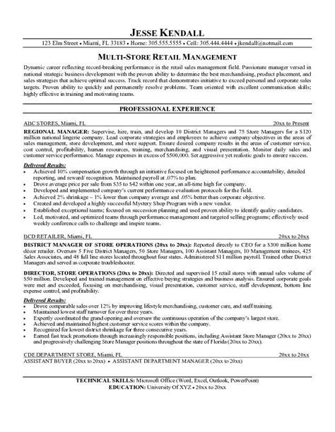 Assistant Manager Resume Exles by Retail Manager Resume Objective Printable Planner Template