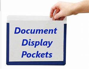 adhesive backed document display pockets office With document display pockets