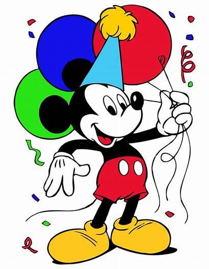 Mickey Mouse Birthday Clipart Clip Disney Happy