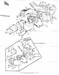 Kawasaki Motorcycle 1976 Oem Parts Diagram For Engine