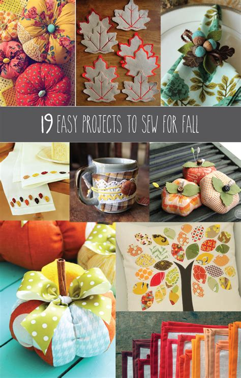 easy projects  sew  fall