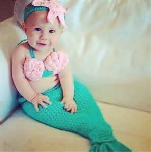 Paisley Baby Bedding by Baby Girls 3 Piece Crochet Mermaid Costume Tail Top And