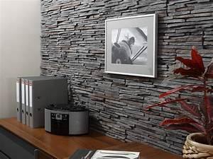 Mur En Pierre Interieur Leroy Merlin : rev tement mural effet pierre home pinterest ~ Dailycaller-alerts.com Idées de Décoration
