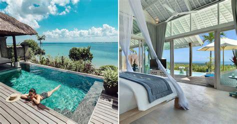 villa mewah tepi laut  kolam pribadi  bali