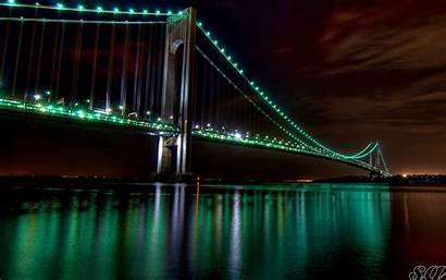 Bridge Gate Golden Night Wallpapers