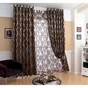 Rideau Gris Occultant : rideau occultant gris ou marron large court et long rideaux design ~ Teatrodelosmanantiales.com Idées de Décoration