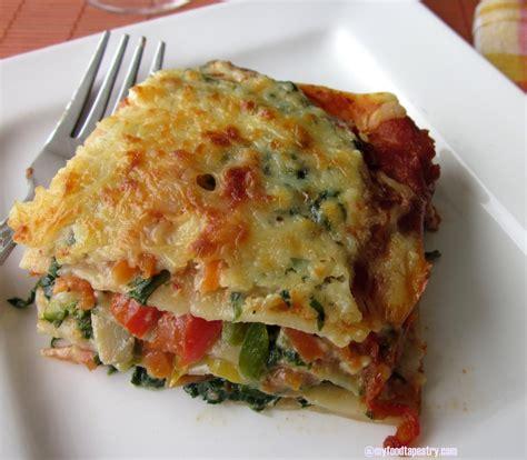 vegetable lasagna egg free vegetable lasagne myfoodtapestry