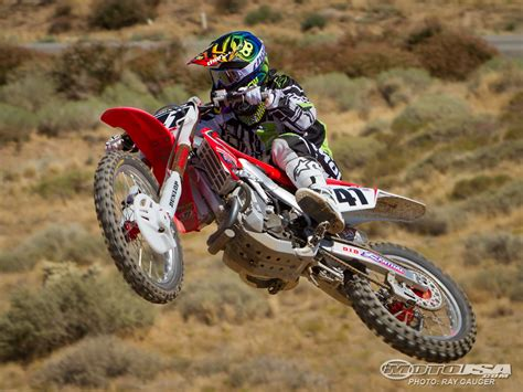 honda motocross bike trey canard honda crf450r factory motocross bike test