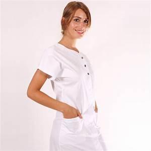 Cote De Travail Femme : blouse de travail femme valia blanche ~ Dailycaller-alerts.com Idées de Décoration