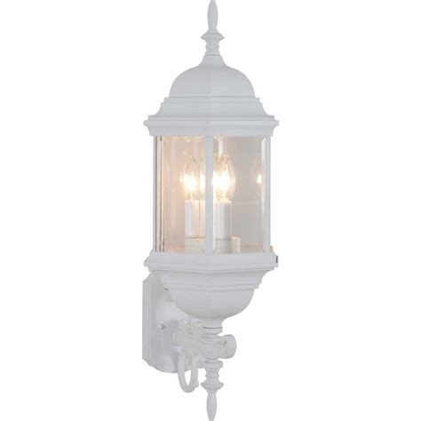 y decor lora 1 light white outdoor wall mount sconce