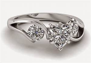 3 stone heart shaped diamond engagement rings sets for women With heart shaped wedding rings for women