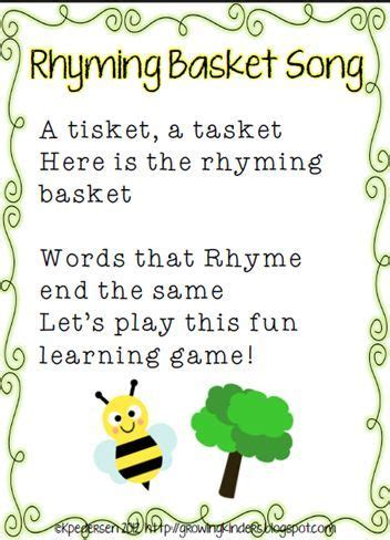 rrhyming words worksheets template printable