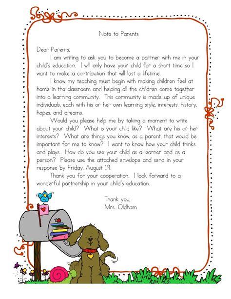 august letter  parents