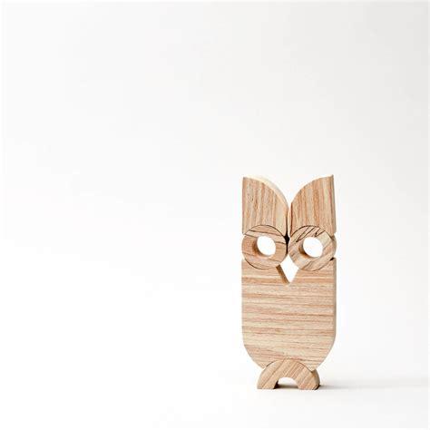 wooden balancing owl owl simple shape