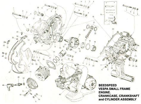 engine   crankcase crankshaft cylinder vespa