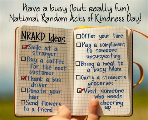 ideas fun feel good day national random acts