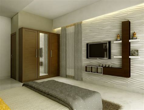 Cabinet Design Ideas For Bedroom by Modern Lcd Cabinet And Wardrobe Design For Bedroom Id974
