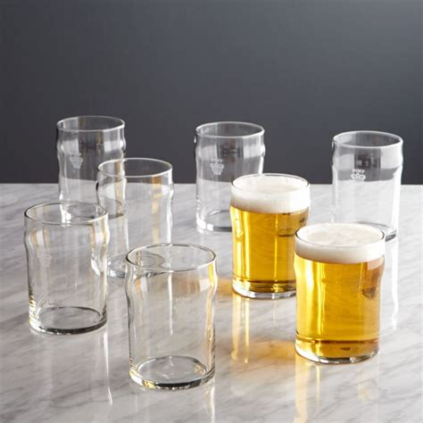 set    pint glass tumblers  crown crate