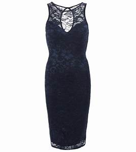 just blue - navy blue lace sleeveless dress