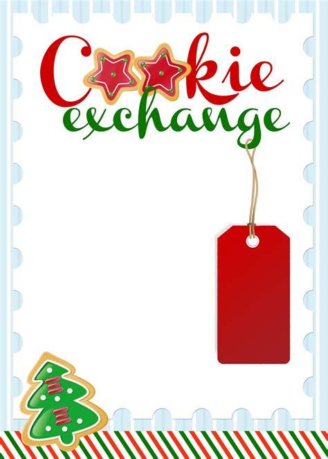 cookie exchange party  printables   nest