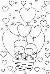 Coloring Couple Valentine Balloon Heart Sheets Couples Bestcoloringpagesforkids Happy Inspiration Printable Adults Adult Babies Wecoloringpage Young Express Air Davemelillo sketch template