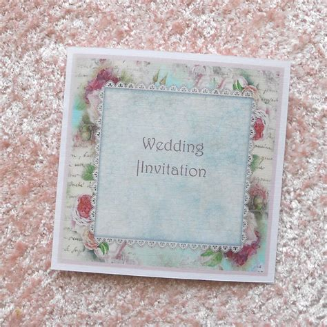 shabby chic wedding reception invitations shabby chic wedding invitation shabby roses and lace x 5 ref 117 on luulla