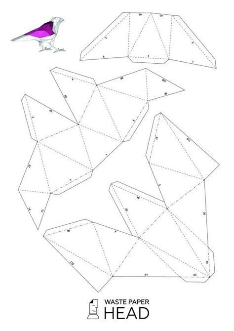papercraft raven printable diy template  pinterest