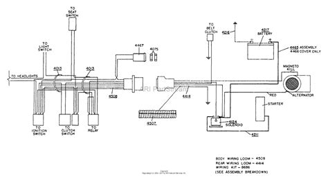 dixon ztr 428 1989 parts diagram for wiring assembly