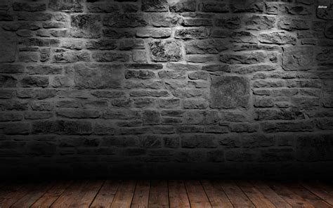 Brick+wall+and+wood+floor+wallpaper