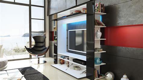 Mediencenter Wohnwand Tv Schrank Anbauwand Olli In Weiß