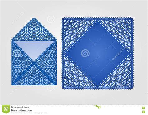 square laser cut invitation template stock vector image