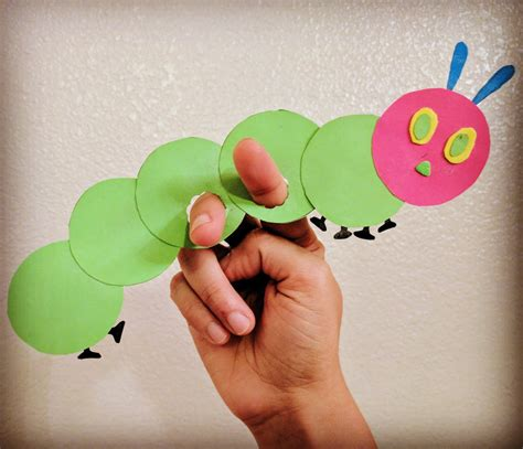 Butterfly Hand Puppet Template by The Joy Of Sharing The Very Hungry Caterpillar Finger