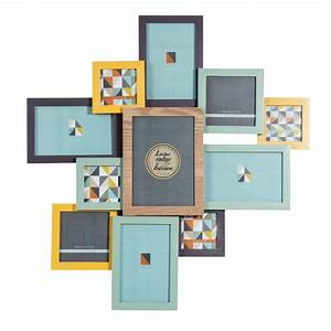 Maison Du Monde Cadre Photo : cadre photo 11 vues en bois multicolore 53 x 55 cm vintage corner ~ Teatrodelosmanantiales.com Idées de Décoration