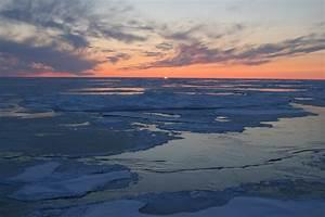 Sunset Over Arctic Ocean  Arctic