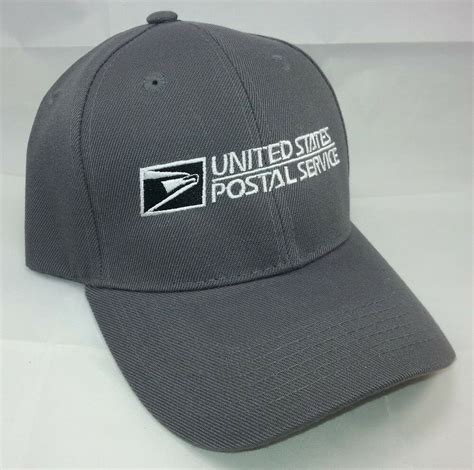 usps embroidered baseball hat dark gray wwhite embroidery