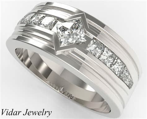 princess cut diamonds wedding band for mens vidar