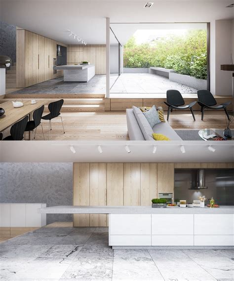 Wood And White Kitchen Ideas