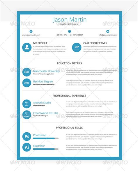 corporate curriculum vitae resume template