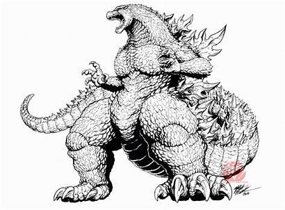 Godzilla Frank Deviantart Coloring Concept Kaijusamurai Idw
