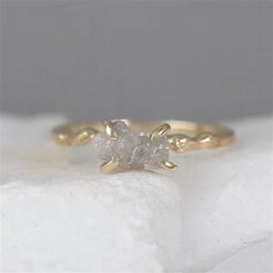 Twig Engagement Ring - Raw Uncut Rough Diamond Twig Ring ...