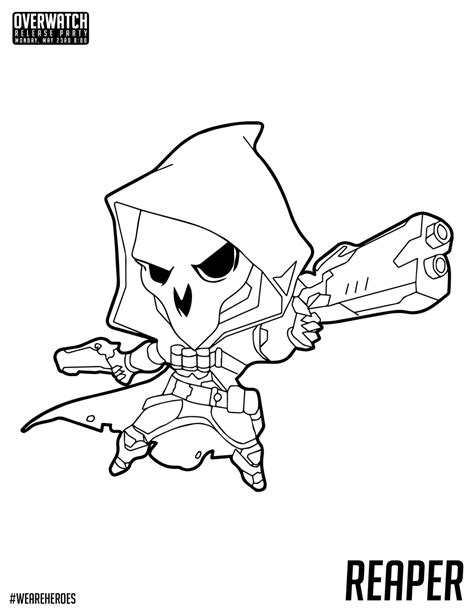 Kleurplaten Overwatch by Overwatch Coloring Pages Getcoloringpages