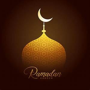 shiny golden mosque top for ramadan kareem festival ...  Ramadan