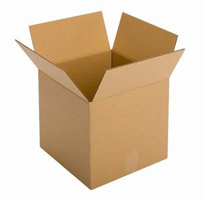 Transparent Box Background Carton Cardboard Packaging Brown